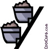 Vector Clip Art image  of a Coal