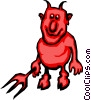 Devil with pitch fork Vector Clipart picture