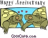 Vector Clipart graphic  of a Happy Anniversary