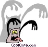 Vector Clipart graphic  of a Halloween monster
