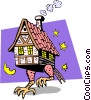 Turkey in a house Vector Clip Art image