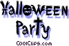 Halloween Party Vector Clipart illustration