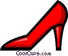 Lady's shoes Vector Clipart illustration