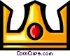 Vector Clip Art picture  of a Crown