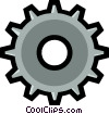 Vector Clip Art graphic  of a Gear