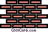 Vector Clip Art image  of a Bricks