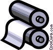 Vector Clip Art image  of a Rollers