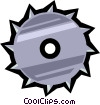 saw blade Vector Clipart picture