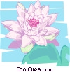 Vector Clip Art picture  of a Water lily