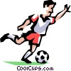 Vector Clip Art image  of a Soccer Player