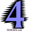 Number four Vector Clipart picture