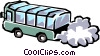 Vector Clipart illustration  of a Tour bus