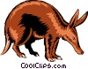 Vector Clipart picture  of an Aardvark