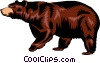 Vector Clip Art image  of a Brown bear
