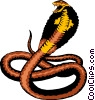 Vector Clip Art picture  of a Cobra