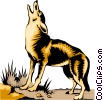 Vector Clipart graphic  of a Coyote