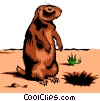 Vector Clipart graphic  of a Gopher