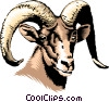 Vector Clip Art graphic  of a Mountain goat