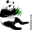 Vector Clip Art image  of a Panda bear