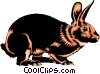 Rabbit Vector Clipart illustration