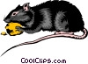 Vector Clip Art image  of a Rat