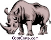 Vector Clipart image  of a Rhinoceros