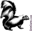 Vector Clipart graphic  of a Skunks