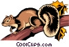 Vector Clipart graphic  of a Squirrel