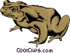 Vector Clipart graphic  of a Toad
