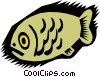 fish, caveman drawings Vector Clipart picture
