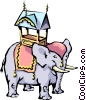 Cartoon elephant Vector Clipart illustration
