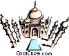 Vector Clipart illustration  of a Taj Mahal