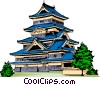Vector Clip Art graphic  of a Japanese Pagoda