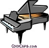 Vector Clip Art graphic  of a Grand piano