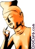 Japanese statue Vector Clip Art picture