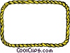 Rope border Vector Clipart illustration