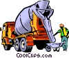 Vector Clipart image  of a Cement mixer