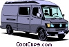 Vector Clip Art image  of a Delivery van