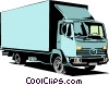 Delivery van Vector Clipart illustration