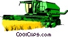 Farm combine Vector Clipart picture