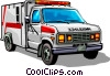 Vector Clip Art image  of an Ambulance