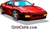 Vector Clip Art graphic  of a Ferrari