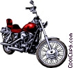 Vector Clipart graphic  of a Motorcycle