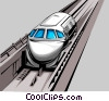 Vector Clipart illustration  of a Bullet train
