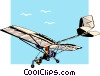 Light airplane Vector Clipart illustration