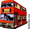 Double-decker bus Vector Clip Art picture