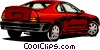 Vector Clip Art graphic  of a Sports car