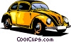Vector Clipart illustration  of a Volkswagen beetle