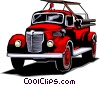 Vector Clip Art image  of a Fire truck