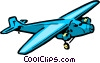 Vector Clip Art image  of a Cartoon airplane